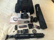Canon EOS Rebel T7 in Original Box, 2 Lens, Bag, Tripod, Remote, Filters, More!