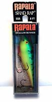 NEW Vintage (Finland) Rapala  Shallow Runner Fire Tiger Shad Rap Lure (#SSR-8 FT