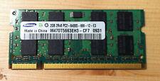 Mémoire 2GO RAM DDR2 SODIMM SAMSUNG 2Rx8 PC2 6400S 800MHz M470T566EH3-CF7