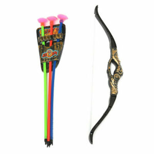 Children Kids Toys Bow and Arrow Double-edged Sword With 3 Sucker Archery Set