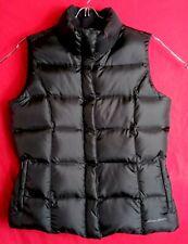 Eddie Bauer Women M Premium Quality Goose Down Black Puffer Vest