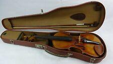Alte Geige/ Violine, mit Koffer und Bogen, Markneukirchen um 1920