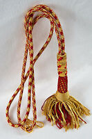 """New Bishop Tassel Pectoral Cord (Red/Gold), 32"""", Clergy Vestment"""