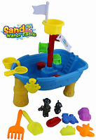 CHILDRENS KIDS SAND & WATER PLAY TABLE & ACCESSORIES GARDEN SANDPIT TOY SET 315