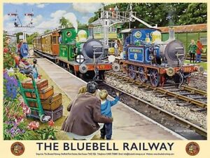 Bluebell Railway Metal Wall Sign