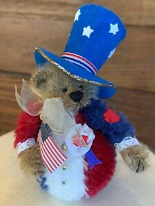"""Deb Canham CELEBRATION #1241 Of 1500 LE 3"""" Jointed Mohair Bear MWT/Box"""