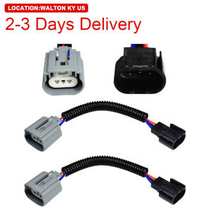 US Location H13 9008 Ceramic Wire Harness Socket Plug Extension for Headlight