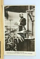 Boy Scouts Baden Powell Reads The King's Message Davidson Postcard RP Real Photo