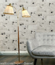 Very Unusual, Black & White,  French Newspaper Design, Designer  Wallpaper