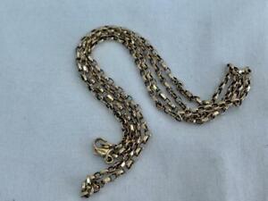 Good Solid 9 carat Gold Fine Box Link Necklace.