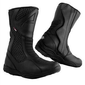 Waterproof Motorcycle Boots Motorbike Touring Paddock Road Race Breathable 42