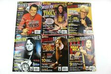 2006 Modern Drummer Magazine 6 Piece Lot Feb July August September October Nov
