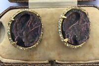 Vintage Hobe Signed Clip On Earrings