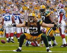 CLAY MATTHEWS GREEN BAY PACKERS SIGNED AUTOGRAPH 8X10 PHOTO