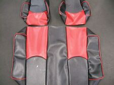Yamaha G14-G22 Golf Cart Deluxe™ Vinyl Seat Covers-Staple On(BLK/RED w/PIPING)