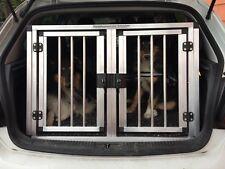 Alu Doppelbox Transportbox Hundebox 90x80x60 mit Sicherheitsausstieg