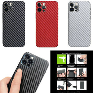 Full Back Carbon Fiber Skin Sticker Protect for iPhone 12 Pro/12 Mini/12 Pro Max