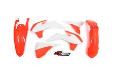 Kit De Plastico KTM EXC EXC-F 125 200 250 350 450 14 15 16 Enduro Neón Naranja Blanco