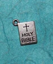 Pendant Bible Charm Religious Charm God's Holy Book Charm WWJD Spiritual Charm