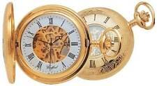 Woodford Gold Plated Mechanical Half Hunter Pocket Watch skeleton 1021
