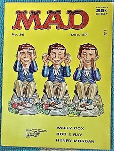 MAD Magazine #36 Dec 1957! FINE! 6.0 $.99 Start!  A VERY NICE-LOOKING CLASSIC !