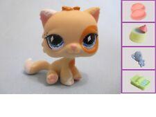 LITTLEST PET SHOP CAT KITTY PERSIAN TAN FANCIEST 521 +1 FREE Accessory Authentic