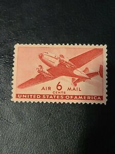 Stamp US 6c Transport Plane, (Air Mail) Sc #C25 Great Find  - # 1646