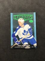 2005-06 UPPER DECK ARTIFACTS PAUL HENDERSON RARE LEGENDS EMERALD GREEN #ed 14/25