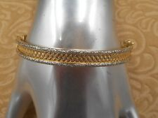 14K Solid Yellow Gold Bangle Bracelet, Lovely Estate Bracelet! Unique!