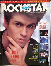 ROCKSTAR 72 1986 George Michael David Bowie Jackson Browne Big Country Venditti