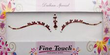 Bindi rouge bijoux de peau mariage autoadhesif strass front sourcils 2633