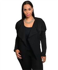 Black Cover-Up Jacket w/Sequins Long Sleeves.  Plus Size 1XL  2XL & 3XL