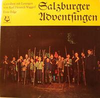 """Salzburger Adventsingen I Avec Lesungen De Karl Heinrich Waggerl 12 """" LP Foc"""