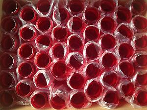 100 Bulk Pack 24 Ounce Red Water Bottles USA Made
