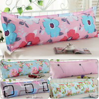 100% Cotton Pillowcase Long Body Double Pillow Cover Sleep Bed Sofa 1.2/1.5m