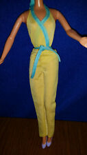 Vtg 1980 MY FIRST BARBIE Jellow Bodysuit w/Blue Trim & Yellow Pants ONLY #1875