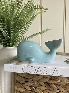 Whale Decor Hamptons Beach Sea Ocean Blue Display Hallway Table
