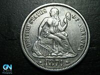 1874 P Seated Liberty Dime --  MAKE US AN OFFER!  #B5323