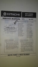 Hitachi sdp-9500 h sp-9500 service manual original repair book stereo