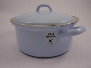 RIESS Kasserolle Topf mit Deckel Email 1,5 L blau 18 cm *** Emaille *** NEU