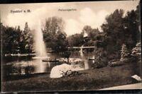 Postkarte sw Ansichtskarte AK PK gelaufen Frankfurt am Main Palmengarten Hessen