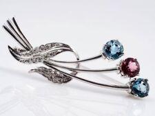 Unbehandelte Echtschmuck-Broschen & -Anstecknadeln Diamant