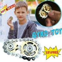 Sprockets Gears Finger Spinner Fingertip Gearwheel Chains Gyro Toy Xmas Gift HOT