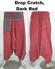 Harem Trousers Pants Hmong Hippy Aladdin Baggy Mens Womens Gypsy Ali Baba Hareem