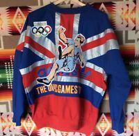 VTG ADIDAS Olympic Games 1908 Sweatshirt Crewneck 1948 London Sports MED