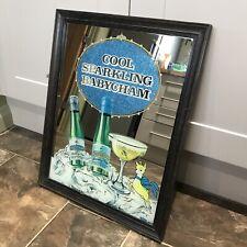 More details for vintage framed 'cool sparkling' babycham advertising mirror home bar pub cave