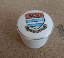 Crested Ware W.h Goss Small pot Lyme Regis Coat of Arms 4cm's