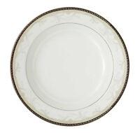 "Waterford China BROCADE Rim Soup Bowl 9"" Platinum Trim New"
