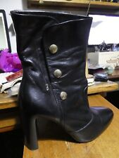NERO GIARDINI women's boots black leather Ankle boots, Classic design.