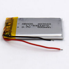 3.7V 500 mAh 403040 Rechargeable Li-Polymer Li Po Battery for GPS Bluetooth MP3